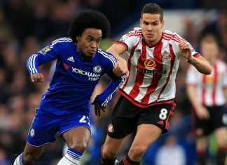 Wilian against Sunderland