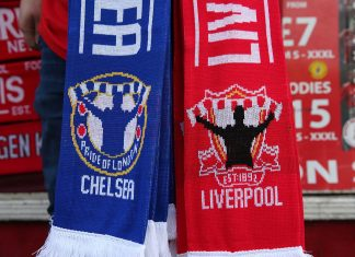 chelsea liverpool scarves