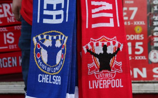 chelsea liverpool scarves