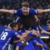 Chelsea celebrate against Man Utd