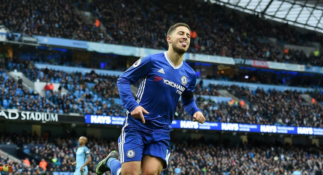 hazard scores against Man City