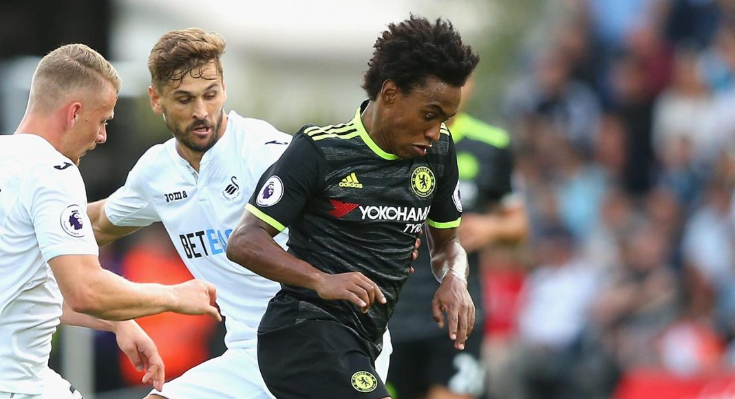 willian against swansea