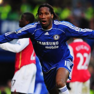 Drogba scores against Arsenal