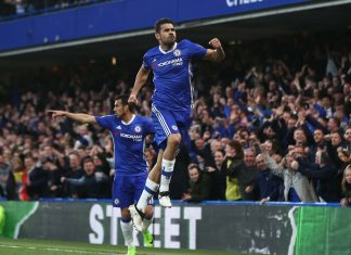 Diego Costa against Middlesbrough
