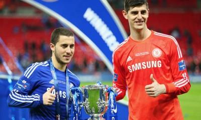 Eden Hazard & Thibaut Courtois