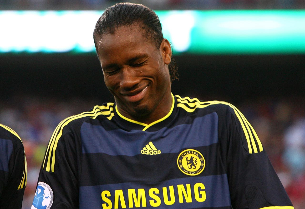 Didier Drogba Laughing