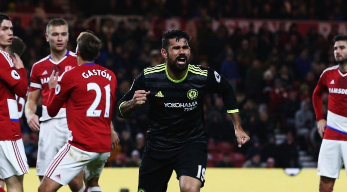Diego Costa vs Middlesbrough