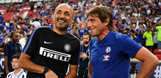 Spalletti chats to Conte