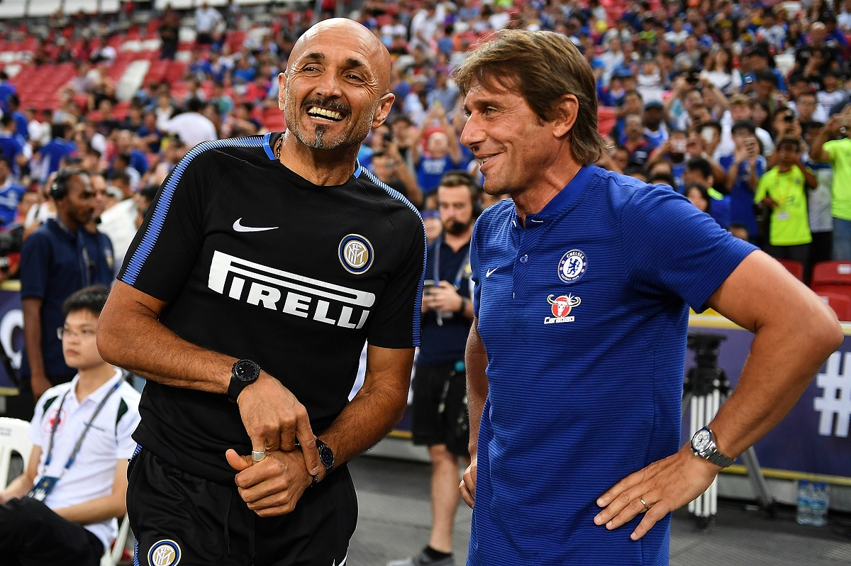 Spalletti chats to Conte