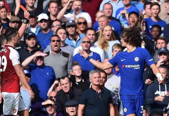 Luiz Red Card