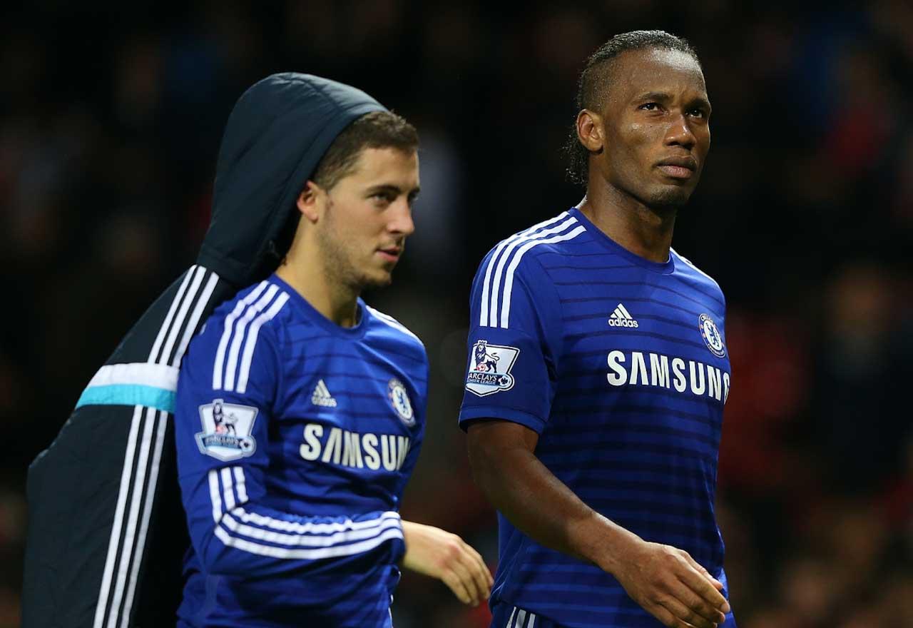 Eden Hazard Didier Drogba 2