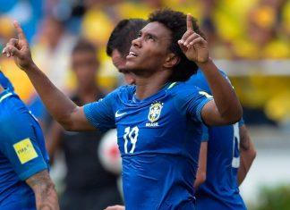 Willian scores for Brazil