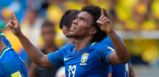 Willian scores for Brazil