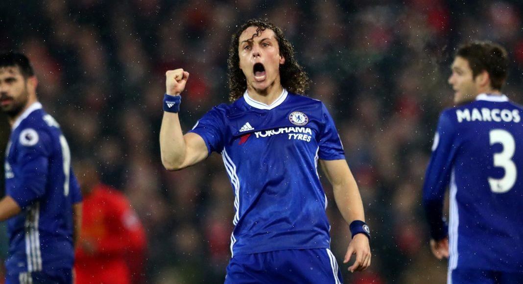 David Luiz Scores At Anfield