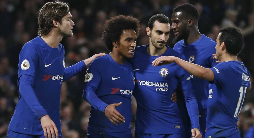 Marcos Alonso, Willian, Davide Zappacosta