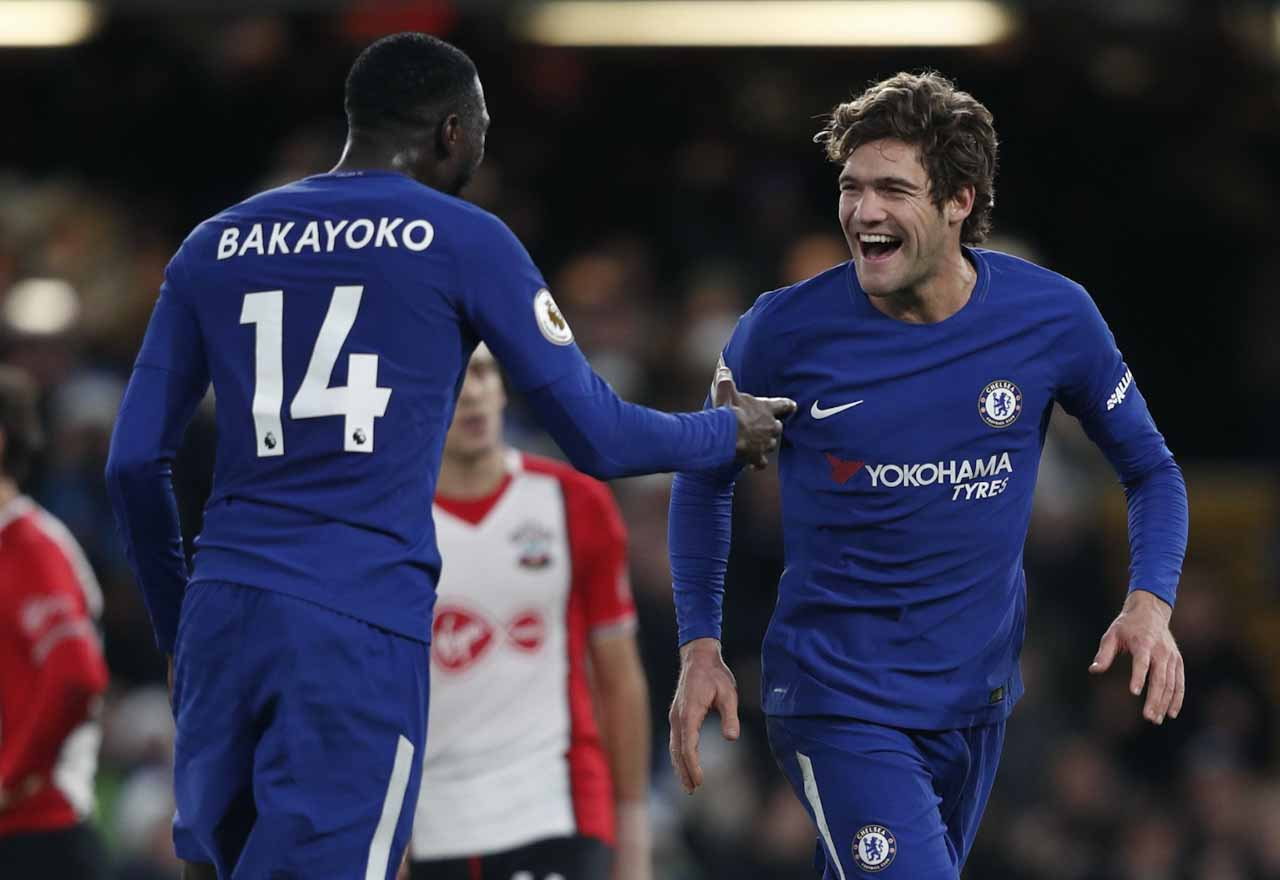 Tiemoue Bakayoko and Marcos Alonso