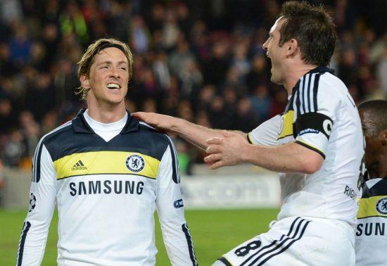 Torres Celebrating Scoring Vs Barcelona 2012