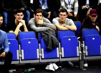 Chelsea stars watching NBA