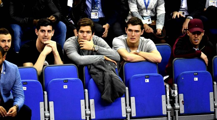 Chelsea stars watching NBA