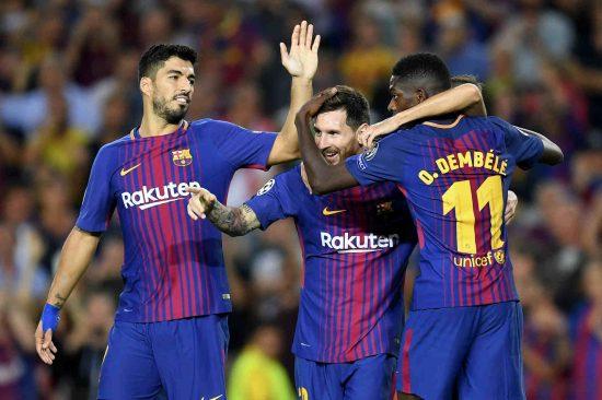 Luis Suarez Lionel Messi Ousmane Dembele