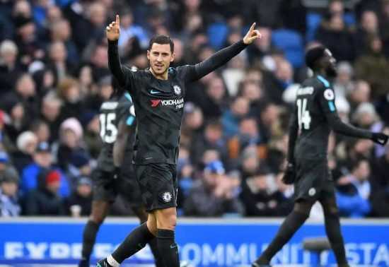 Eden Hazard Vs Brighton2