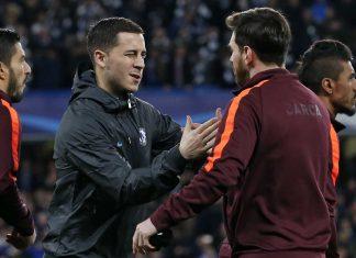Eden Hazard Lionel Messi