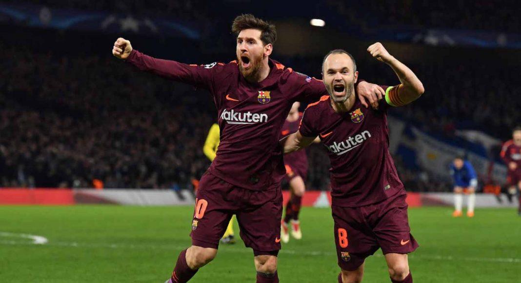 Lionel Messi Andres Iniesta