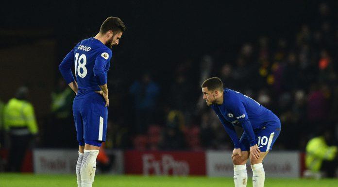 Giroud Hazard Chelsea