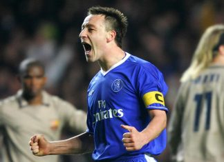 John Terry Celebrating Against Barcelona
