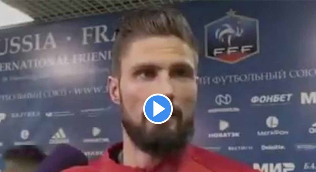 Giroud fumes as TV interview is interrupted by journalists clamouring for Mbappe