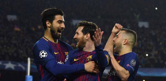Andre Gomes Lionel Messi Jordi Alba