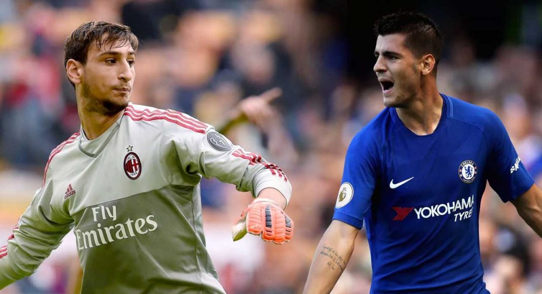 Image result for AC Milan want Donnarumma-Morata swap