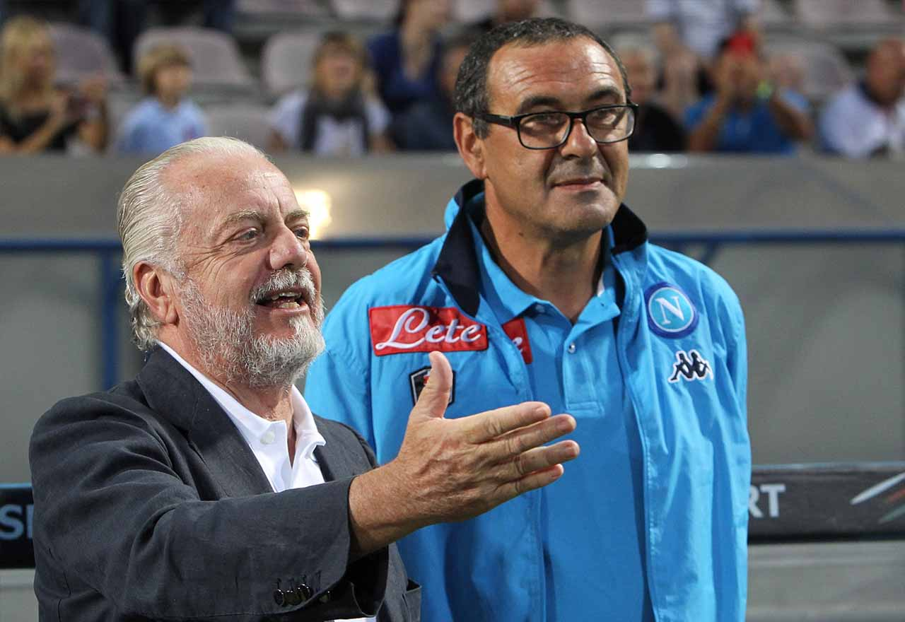 Maurizio Sarri Aurelio De Laurentiis