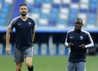 Olivier Giroud N'golo Kante