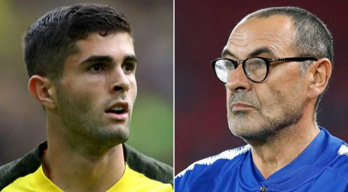 Maurizio Sarri responds to questioning about Chelsea's interest in Christian Pulisic