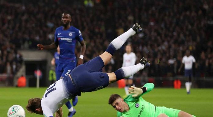 (Video) Kepa erraticness costs Chelsea after length VAR review, 1-0 Tottenham
