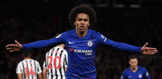 Willian scores against Newcastle