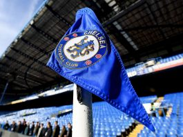 Chelsea Flag At Stamford Bridge