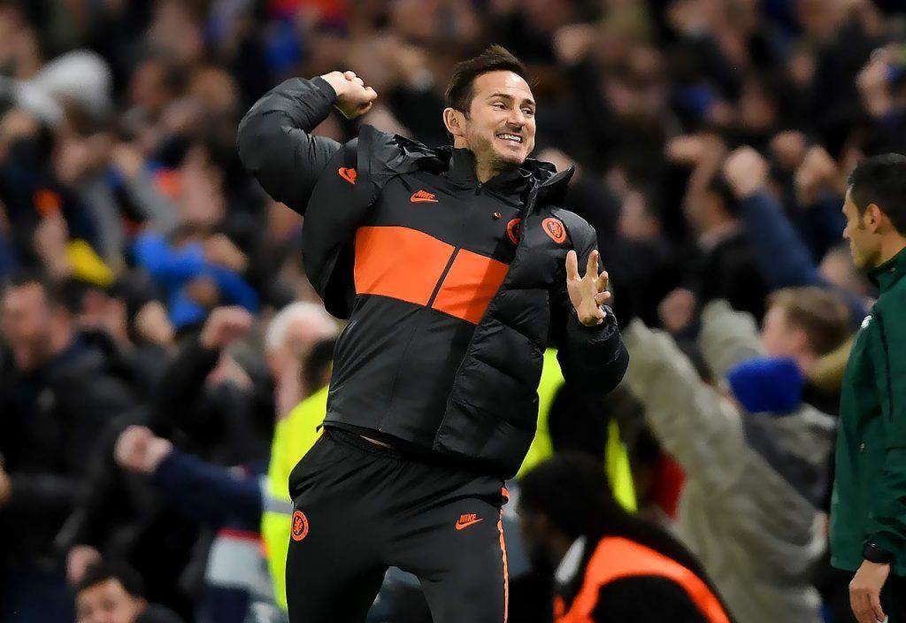 Frank Lampard Celebrates V Ajax