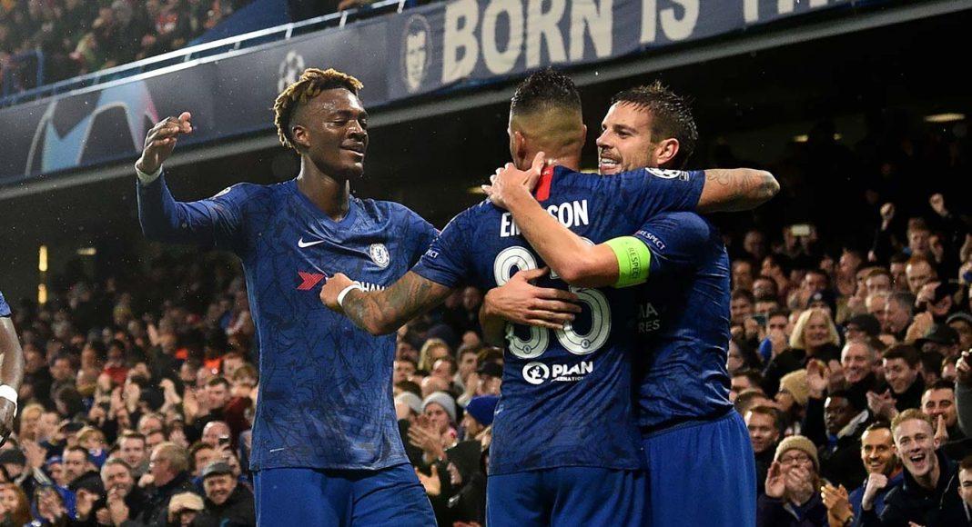 Chelsea V Lille Celebrations