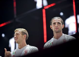 Juventus Players Federico Bernardeschi And Adrien Rabiot During 1460880