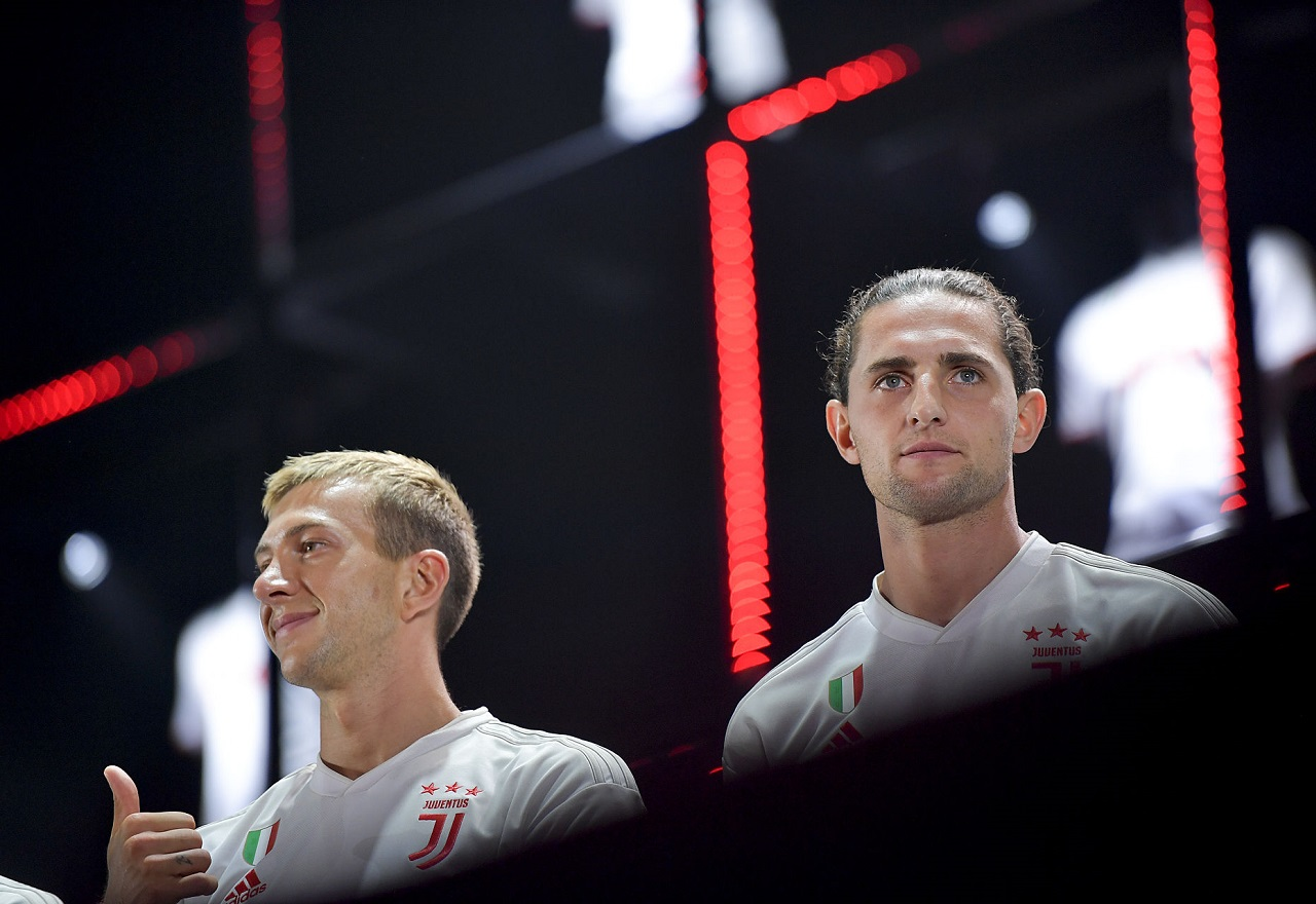 Juventus Players Federico Bernardeschi And Adrien Rabiot During 1460880